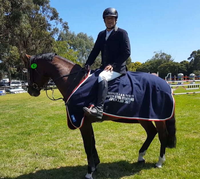Proud moment Oaks Volta's first prize rug