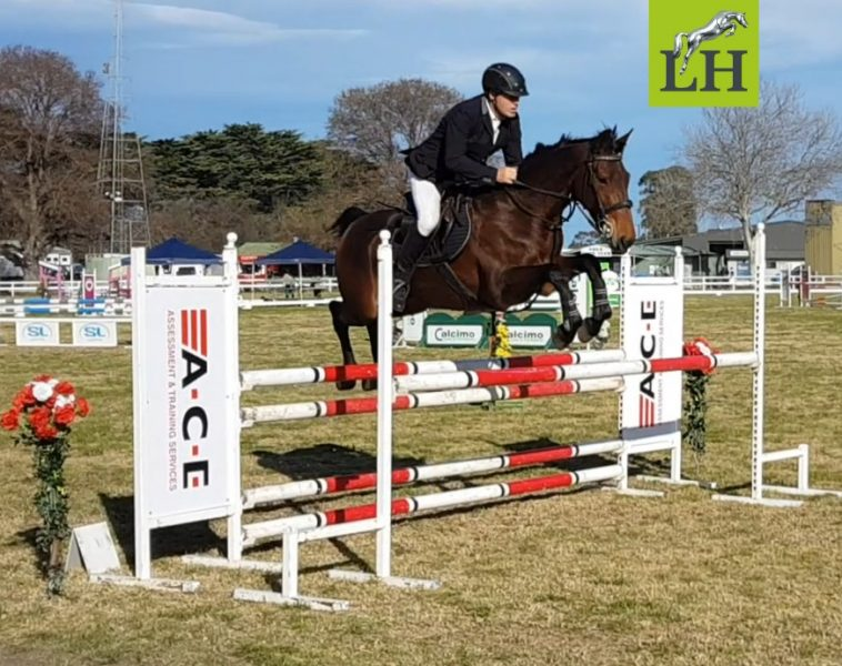 Nicky jumping great early Sunday morning with perfect weather conditions