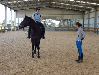 Short stint during September, Sarah had a Dressage lesson with Cynthia Bossema