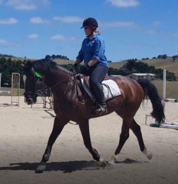 Sarah proudly rode Oaks Volta