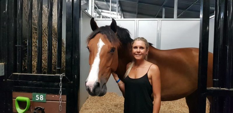 Lauren Balcomb with one of her favs Verdini D'Houtveld Z