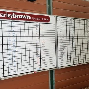 Harley Brown Equestrian work/feed board