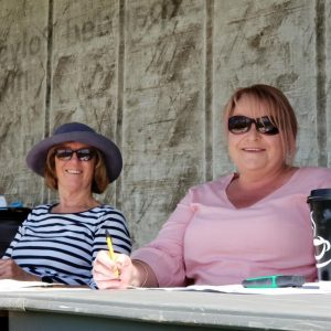 Judge Carole Baxter & her penciller at Swan Hill Show