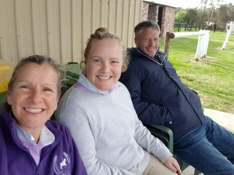 Family together enjoying Dressage on Saturday